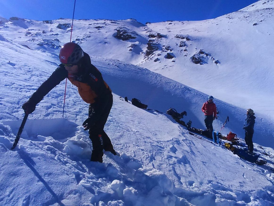 Introductory winter mountaineering course