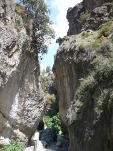 Monachil river gorge