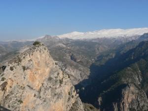 Second peak of Boca de la Pesca with Trevenque and Sierra Nevada behind