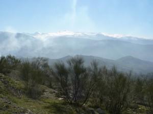 View of Sierra Nevada from above Beas de Granada